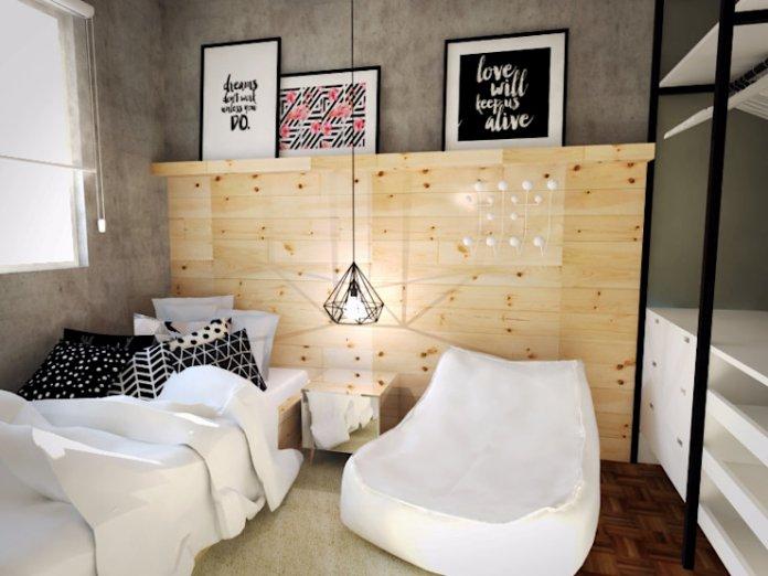 thiết kế phòng ngủ 8m2 đơn giản
