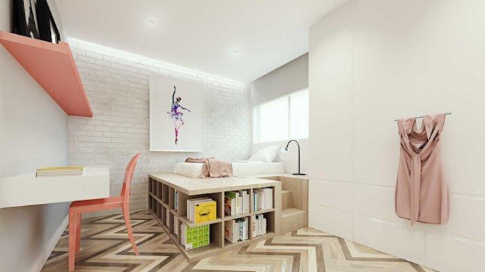 decor phòng ngủ 9m2 với giường ngủ thông minh đa năng