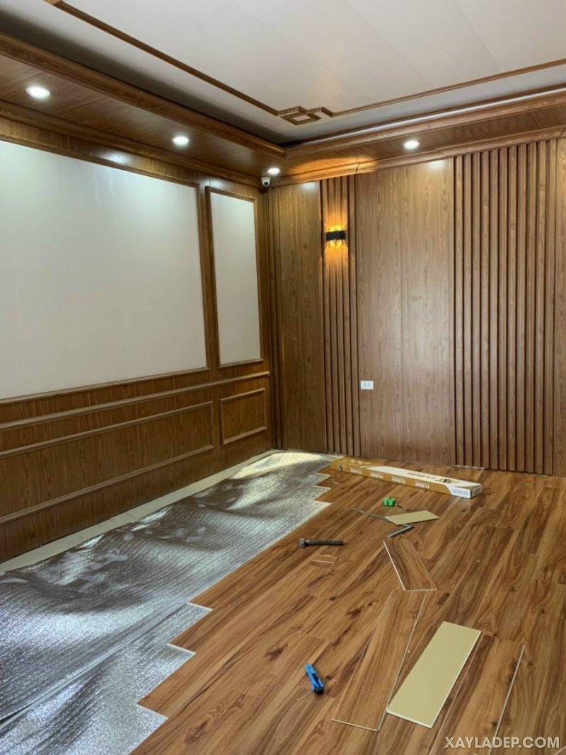 34   trần nhựa giả gỗ cao cấp phong cách tân cổ điển