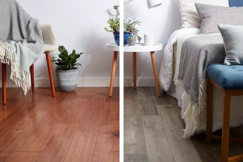So sánh sàn gỗ công nghiệp và sàn gỗ kỹ thuật. Margot Cavin / The Spruce
